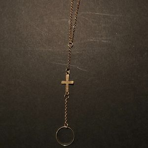 Golden Cross, Ring/Bracelet Combination